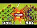 "Clash of Clans - LEVEL 1 TO MAX! ""DEFENSIVE UPGRADES COMPLETE!"" Maxing Defenses out 100% Finally!"