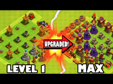 Clash of Clans - LEVEL 1 TO MAX!