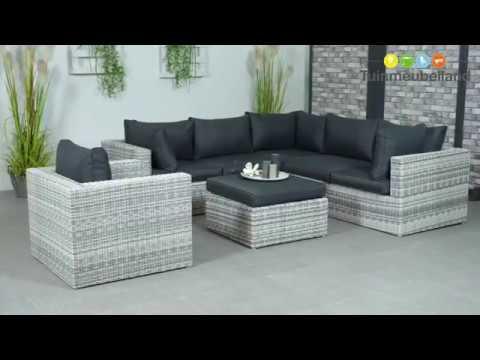 Formiga loungeset lichtgrijs merk garden impressions collectie