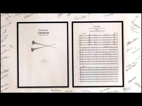 Fanfarrón by David Bruce - orchestral fanfare