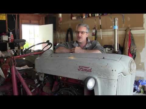 Ford Jubilee NAA Tractor Engine Rebuild Part 1 Oil Pan and Oil Pump Removal