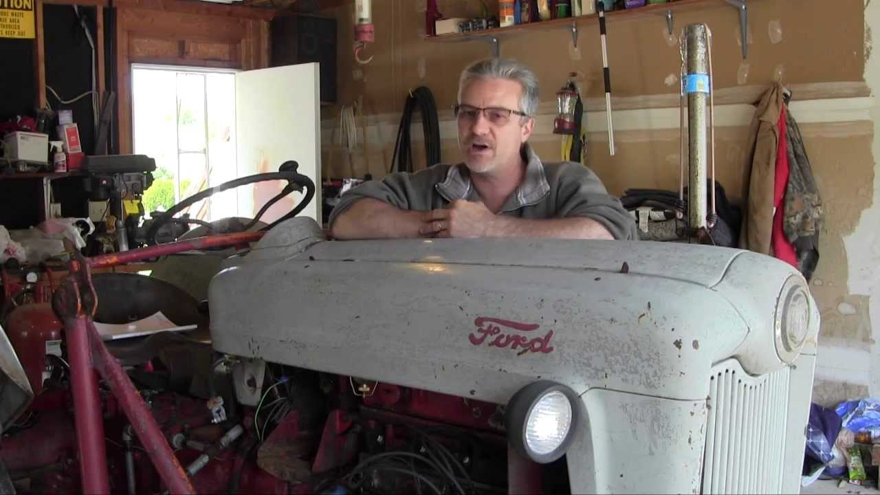 medium resolution of ford jubilee naa tractor engine rebuild part 1 oil pan and oil pump removal
