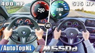 BMW M550d G30 400HP STOCK vs McChip 515HP | 0-260km/h ACCELERATION & AUTOBAHN POV by AutoTopNL