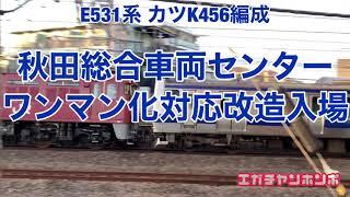 【配給輸送】201119 E531系カツK456編成 秋田入場配給(ワンマン化改造)/Series E531 K456F Delivery to Akita.