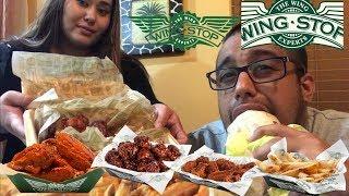 ⚠️Wingstop MUKBANG | Lemon Pepper Wings | HONEY BBQ Wings | Burritos MUKBANG | Mango Habanero WINGS