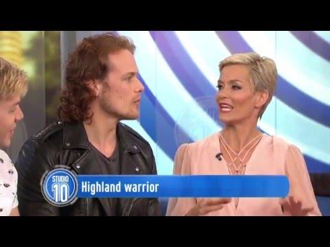 "Outlander - Sam Heughan's ""Studio 10"" interview - Sydney, Australia"