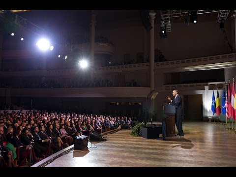 President Obama Speaks at Palais Des Beaux Arts