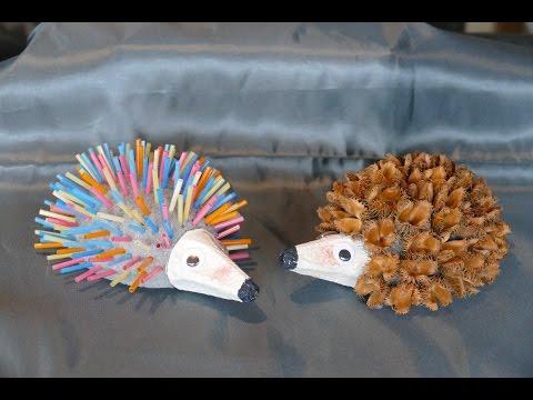 tiere-/-animals-basteln,-igel-basteln-mit-naturmaterialien-oder-trinkhalmen,-basteln-mit-kindern