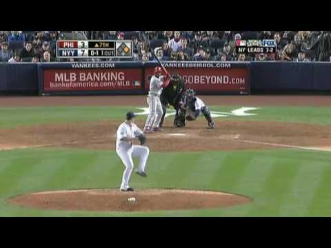 2009 World Series: Joba Chamberlain keeps the Phillies off the board for one inning (11.04.09)