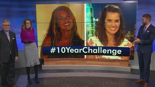 KXAN Anchors try out the #10yearchallenge