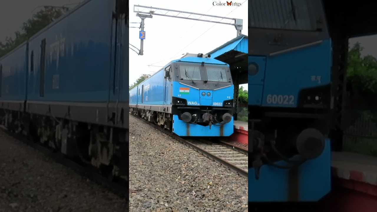 WAG-12B : India' most powerful locomotive 12kHP | Watch Full High Speed Video in my channel¦ #shorts