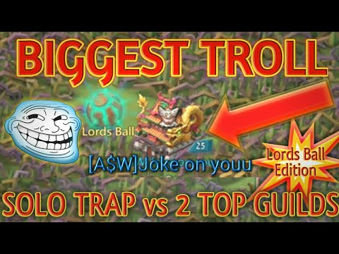 THE BEST SOLO TRAP  - LORDS BALL TROLL || Lords Mobile