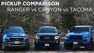 2019 Toyota Tacoma vs GMC Canyon vs Ford Ranger | Pickup Comparison | Driving.ca