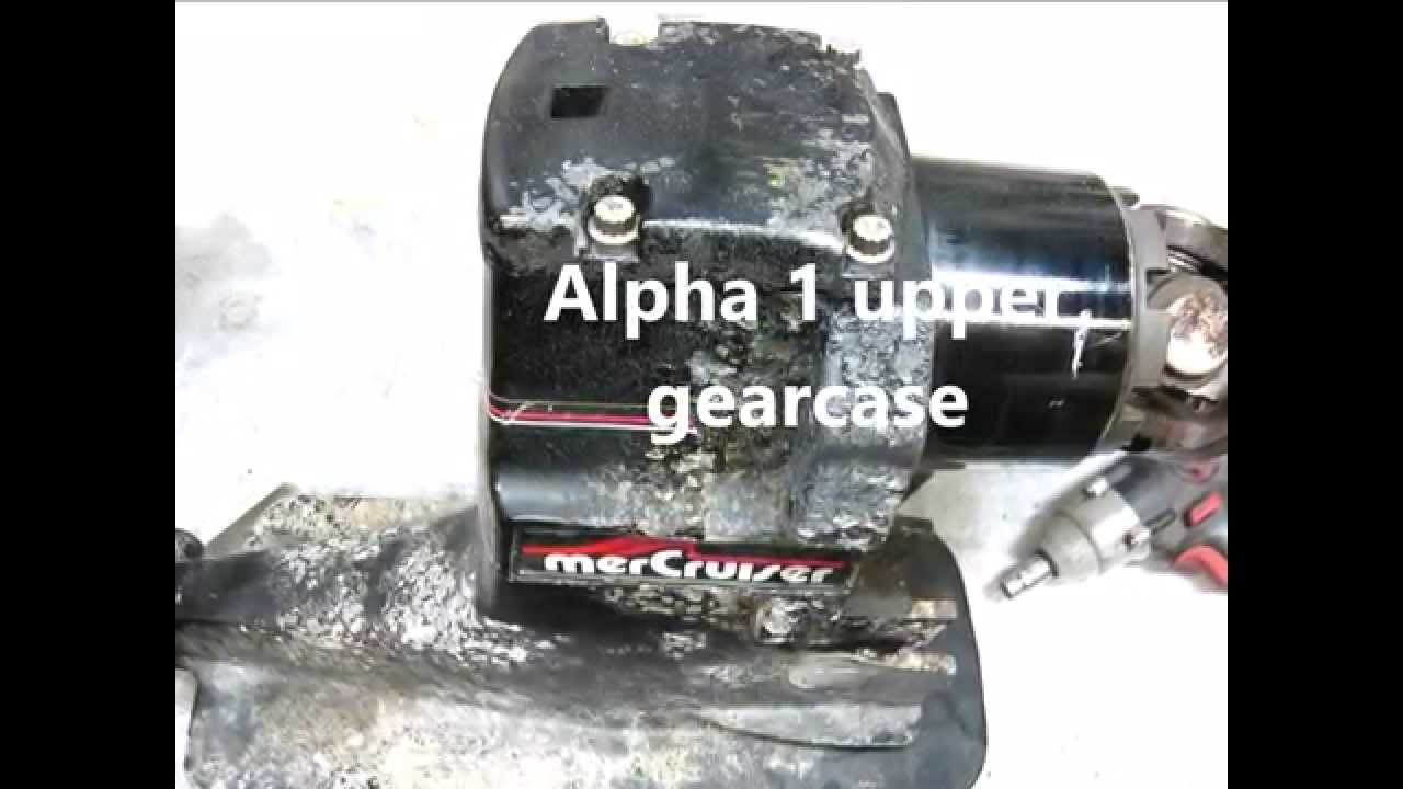 Mercruiser Alpha 1 upper gearcase repair (oil seals) and tools