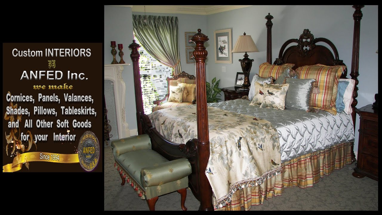 beautiful draperies, valances, panels, cornices, beds and