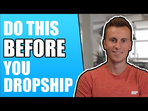 8 Things To Do BEFORE You Start Dropshipping (AVOID Beginner Mistakes) thumbnail
