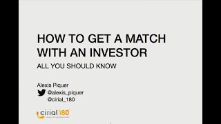 Cirial 180 - How to get a match with an investor?