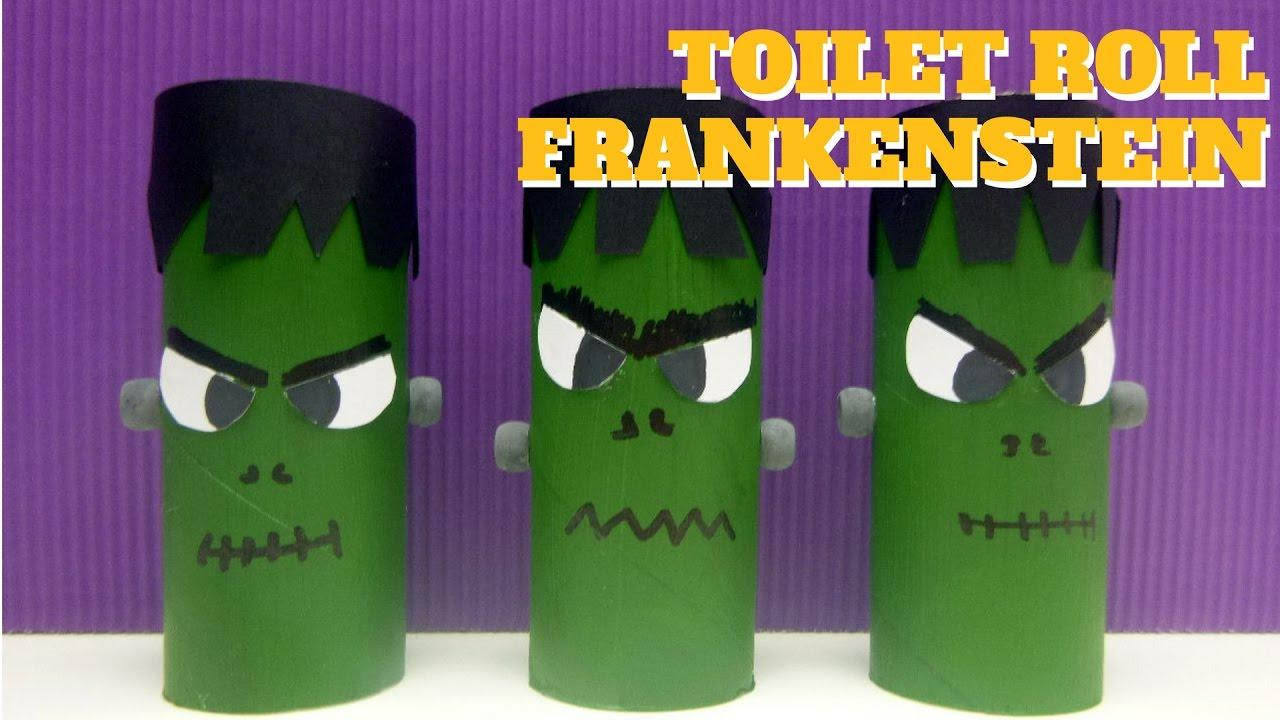 Halloween Crafts Toilet Paper Roll Frankenstein Toilet