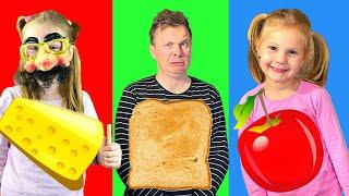 Iznenadjenja na tanjuru. Kvadratna, Trokutasta i Okrugla hrana Challenge.