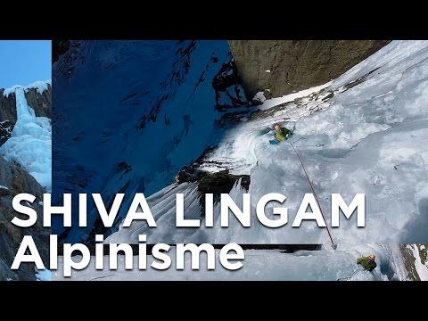 Shiva Lingam cascade de glace alpinisme Glacier d