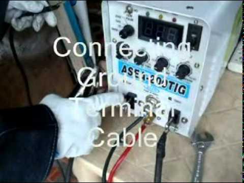 How to set ASEA tig welder.DAT