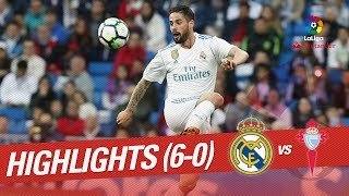 Resumen de Real Madrid vs RC Celta (6-0)