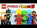 LEGO Ninjago Dragon Ball Z Inspired MOC Project w/ Super Saiyan Kai Lloyd Cole Jay & Zane