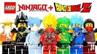 lego ninjago dragon ball z inspired moc project w super saiyan kai lloyd cole jay zane
