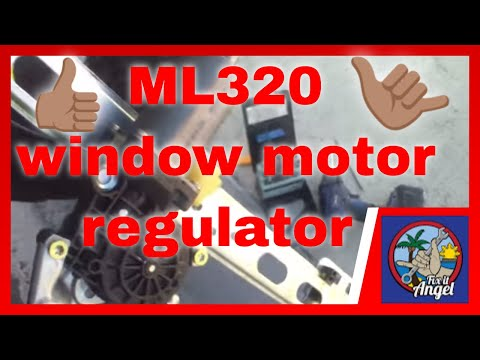 How to replace rear window regulator motor mercedes ml320 for How to fix car window motor