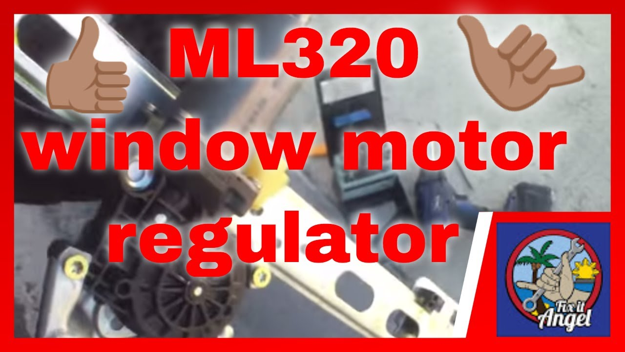 how to replace rear window regulator motor mercedes ml320 fix it angel [ 1280 x 720 Pixel ]