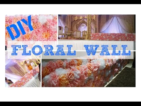 DIY Wedding Flower Wall Centerpiece-How to Tissue paper giant pom poms decor ideas MaenaS
