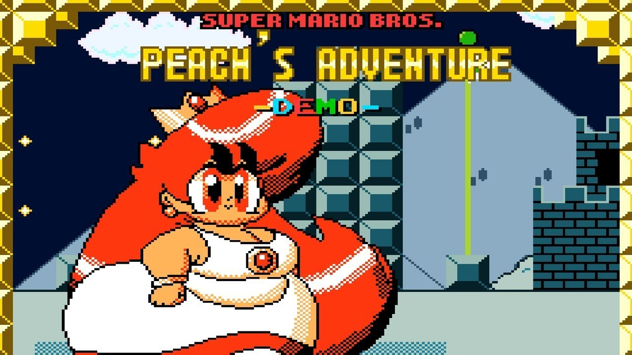 Super Mario Bros.: Peach's Adventure | Awesome Hack of Super Mario World (2018)