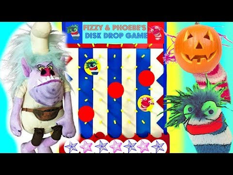Trolls Puppy Dog Pals Halloween Disk Drop Game with Chef