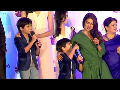 Priyanka Chopra's FUNNY Moments With Child Actor Nihar Gite At Kay Re Rascalla Press Conference