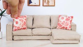 DIY Dollhouse Miniature Modern Sofa Tutorial - Dolls, Nendoroid, LPS