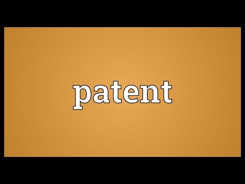 Patent Meaning