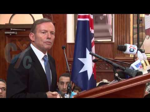The visit of the Australian Prime Minister, Tony Abbott, to St  Mark church, Sydney
