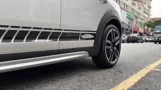 F60 MINI Countryman Cooper S installing JCW Side Decal