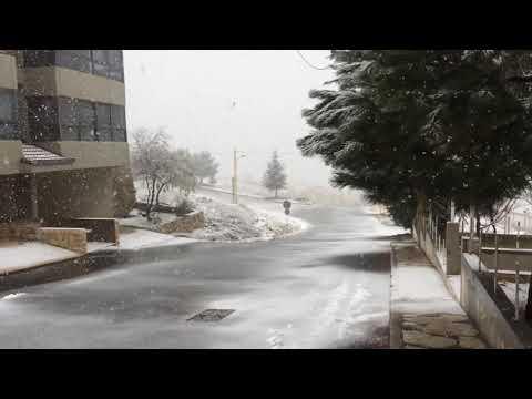 the beautiful of snowing in lebanon