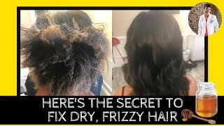Here's The Secret To Fix Dry, Frizzy Hair