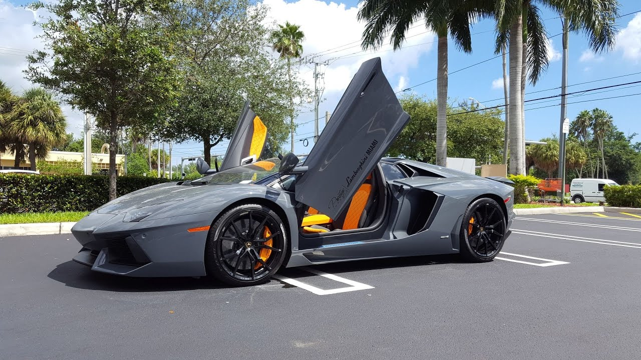 2017 Lamborghini Aventador Lp 700 4 Roadster Start Up