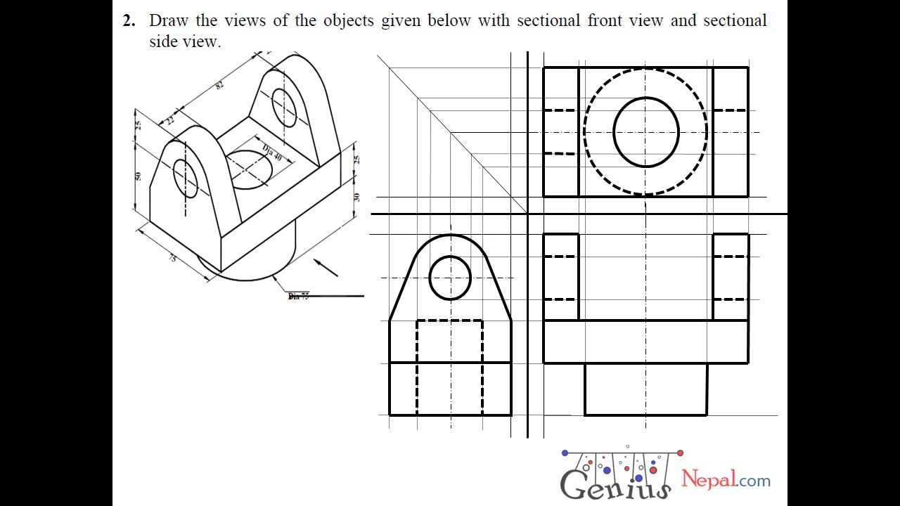 Engineering Drawing Tutorials/Sectional and Auxiliairy