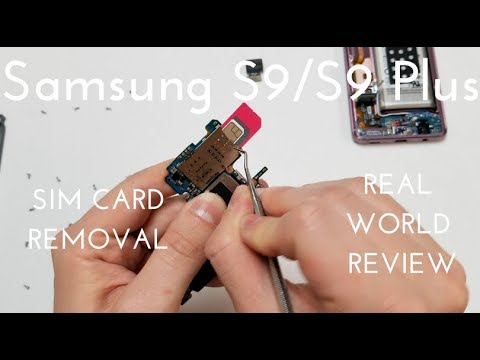 Samsung Galaxy S9 S9 Plus Sim Card Removal When Stuck Youtube