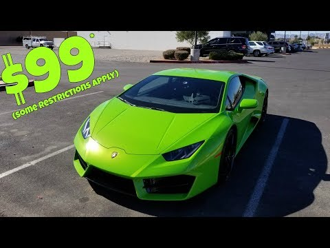 I Rented a Lamborghini for $99! Steal or Scam? *Cheapest in the World*