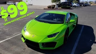 I Rented a Lamborghini for $99 (You can TOO!)