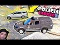 GTA 5: POLICIA E LADRÃO - TENTOU FUGIR DO CHOQUE  MAS AQUI É CHOQUE  -  16