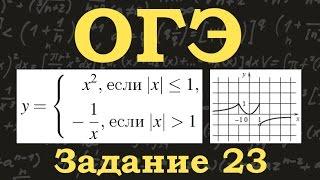 ОГЭ по математике. Задание 23. Кусочно-непрерывные функции. Парабола. Обратная пропорциональность