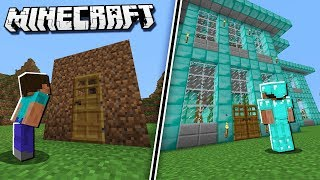 Minecraft NOOB vs PRO Building A House!
