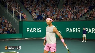 Paris Open 2018 - Rafael Nadal vs Fernando Verdasco - AO International Tennis PC Gameplay