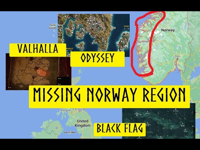 Map Size Comparison And The Missing Norway Region Assassins Creed Valhalla Youtube